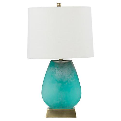 Gabby Harris Table Lamp, Luminescent Turquoise