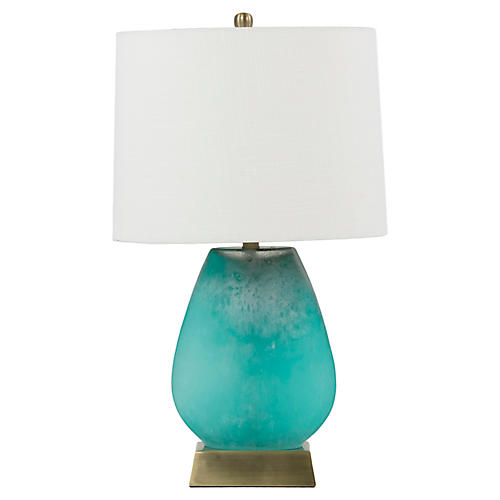 Gabby Harris Table Lamp, Luminescent Turquoise