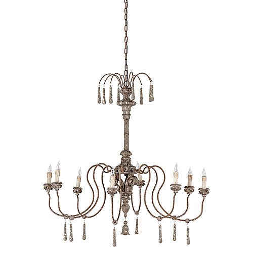 Gabby Vincent Chandelier, Distressed Gray