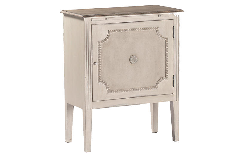 Landry Side Table, Distressed White