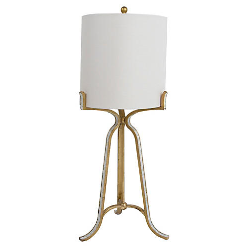 Cora Table Lamp, Natural/Antiqued Gold
