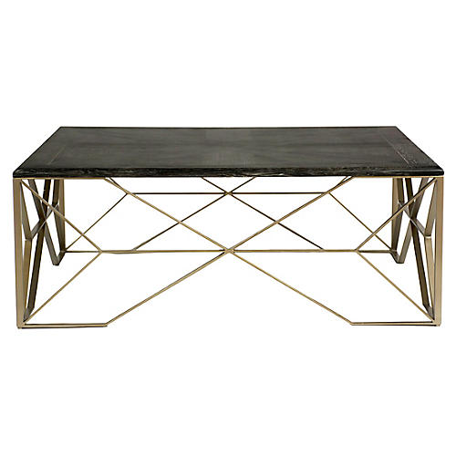 Theodore Coffee Table, Dark Gray/Light Bronze