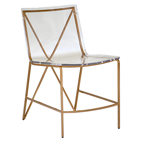 Johnson Side Chair, Clear