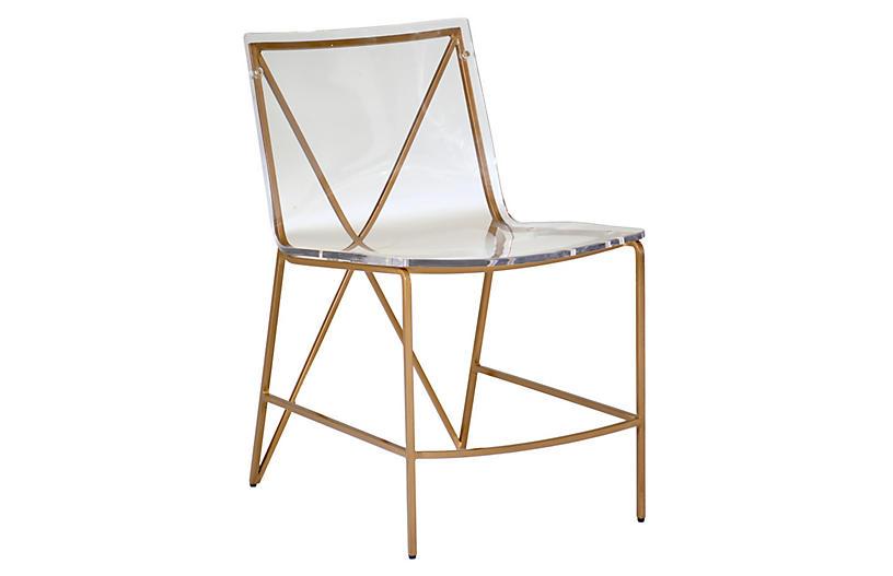 Johnson Side Chair, Clear