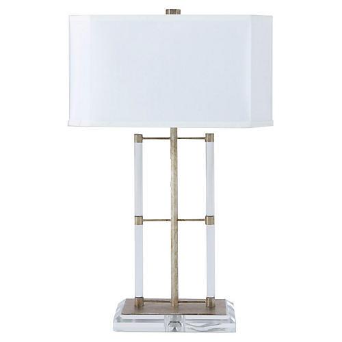 Martin Table Lamp, Champagne/White