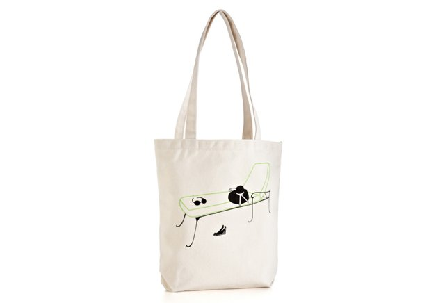 Beach Tote, Lounging Lady