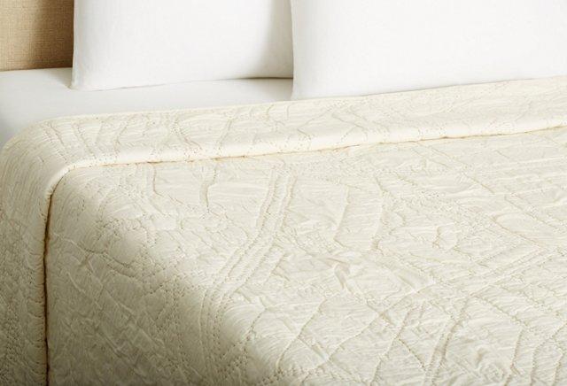 Brooklyn Quilt, Ivory