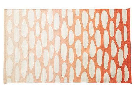 5'x7' Alain Rug, Orange-Red