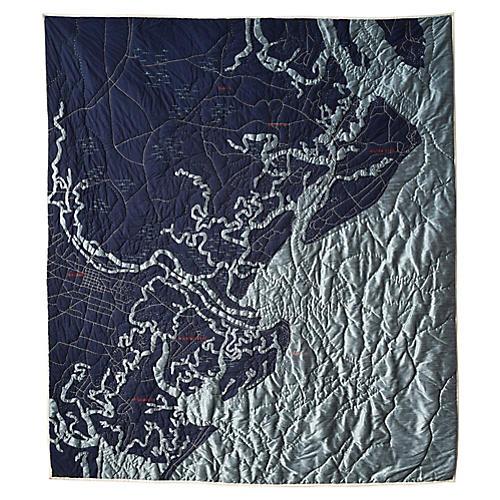 Savannah Quilt, Navy