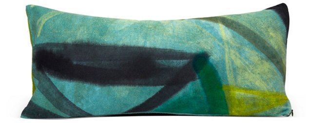 Hand-Painted Rectangle Pillow II
