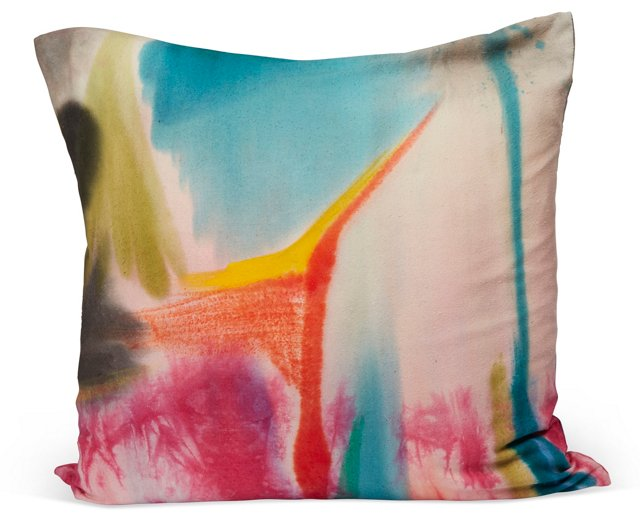 Hand-Painted Square Pillow II