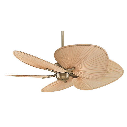 Islander Palm Ceiling Fan, Beige