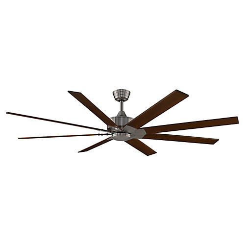 Levon Ceiling Fan, Dark Brown