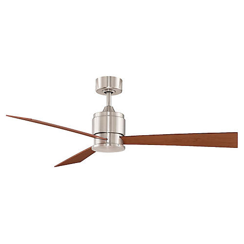 Zonix Ceiling Fan, Nickel/Multi