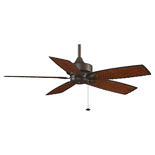 Cancun Wet Ceiling Fan, Bronze