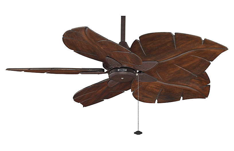 Large Fan Blades : Windpointe ceiling fan rust fans