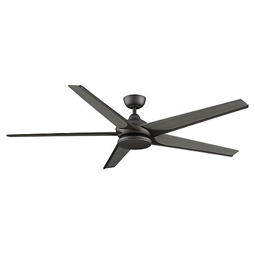 Subtle Ceiling Fan, Greige/Weathered Wood