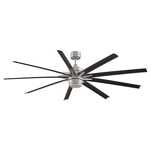 Odyn Ceiling Fan, Nickel/Black