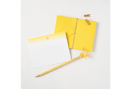 S/6 Limoncello Monogram Boxed Notes Set