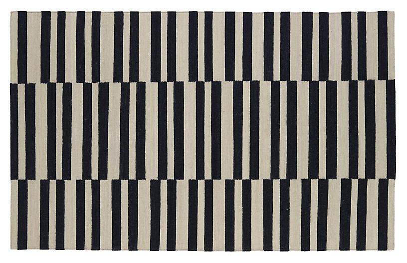 Anna Flat-Weave Rug, Black