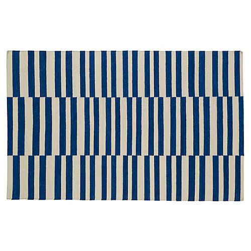 Anna Flat-Weave Rug, Navy