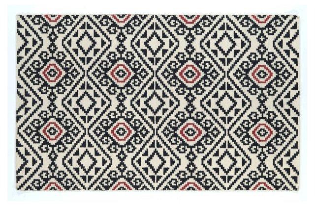 Oaken Flat-Weave Rug, Black