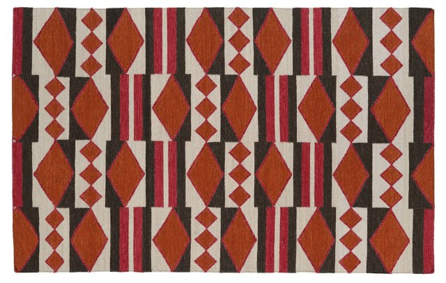 Angela Flat-Weave Rug, Orange