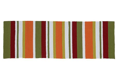 Antonio Outdoor Rug, Orange/Multi