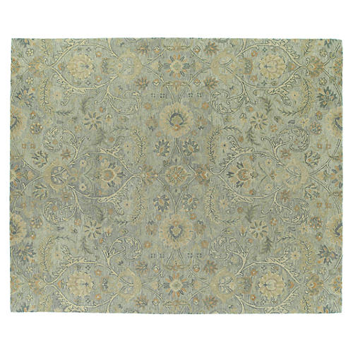 Teali Rug, Green/Gray