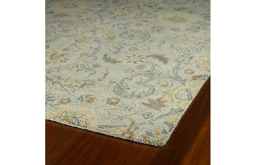 Teali Rug Green Gray Traditional Rugs By Style Rugs
