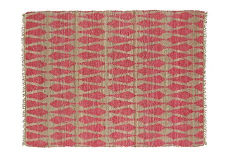 Adain Jute-Blend Rug, Pink