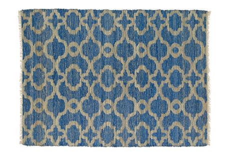 Trellis Jute Flat-Weave Rug, Blue