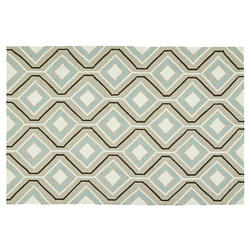 Basil Outdoor Rug, Light Brown