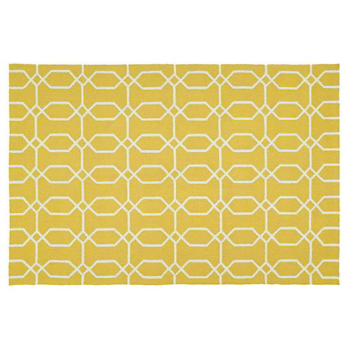 Irvyn Outdoor Rug, Gold