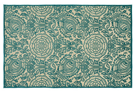 Belda Outdoor Rug, Blue