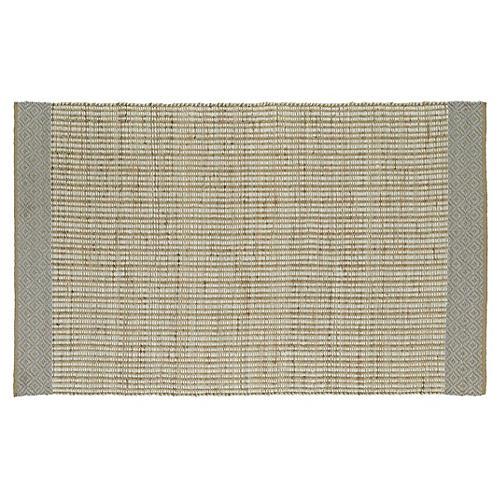 Woven Tribal Jute-Blend Rug, Ivory