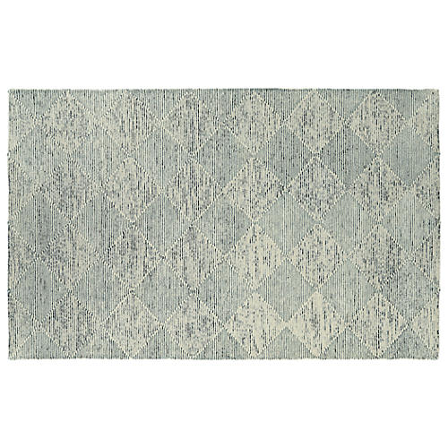 Rosewood Rug, Linen/Pewter Green
