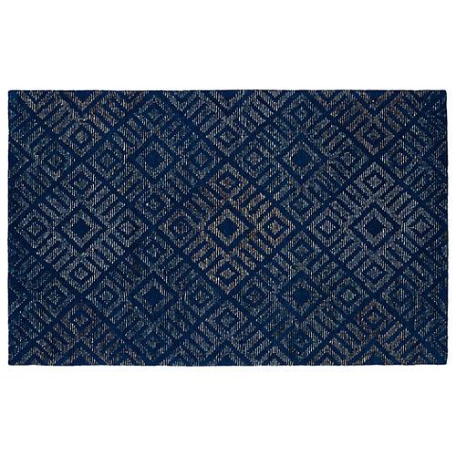 Agra Rug, Navy/Dark Blue