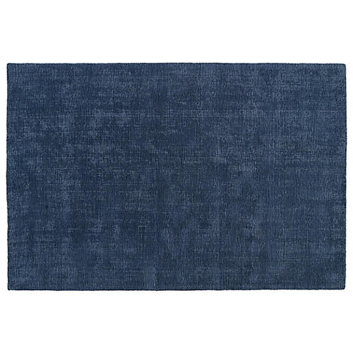 Mita Outdoor Rug, Denim/Light Blue