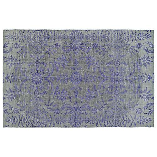Talarik Hand-Knotted Rug, Purple/Gray