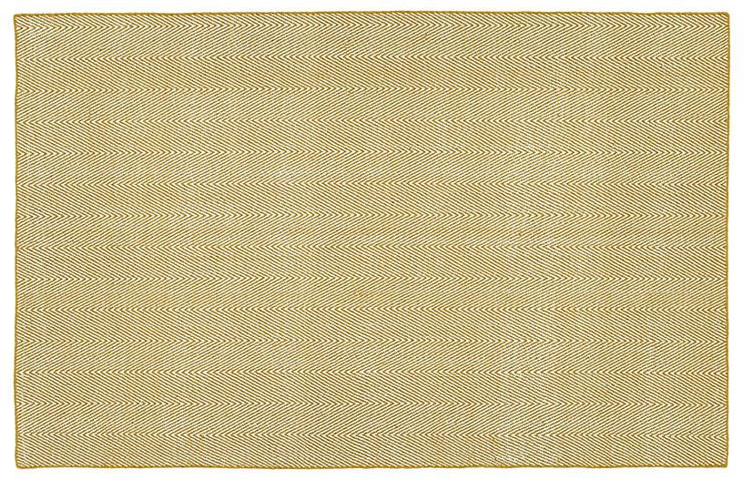 Onika Flat-Weave Rug, Gold
