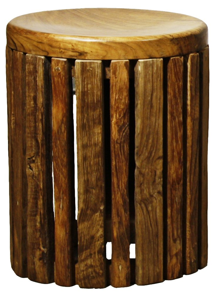 Combi Rustic Round Side Table, Natural