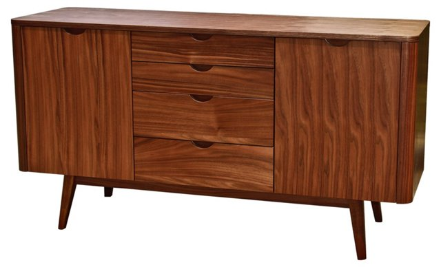 "Milano 55"" Sideboard, Walnut"