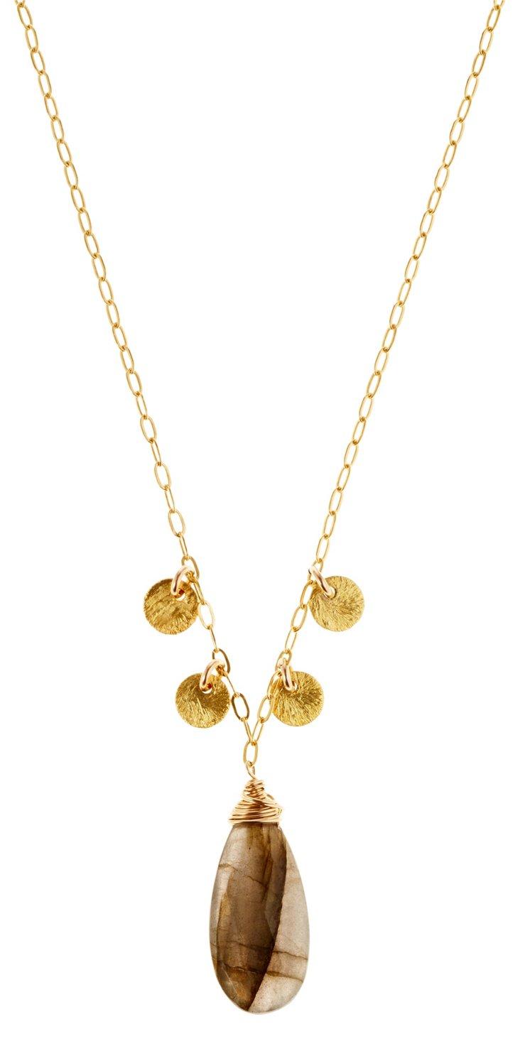 Labradorite Paillette Necklace