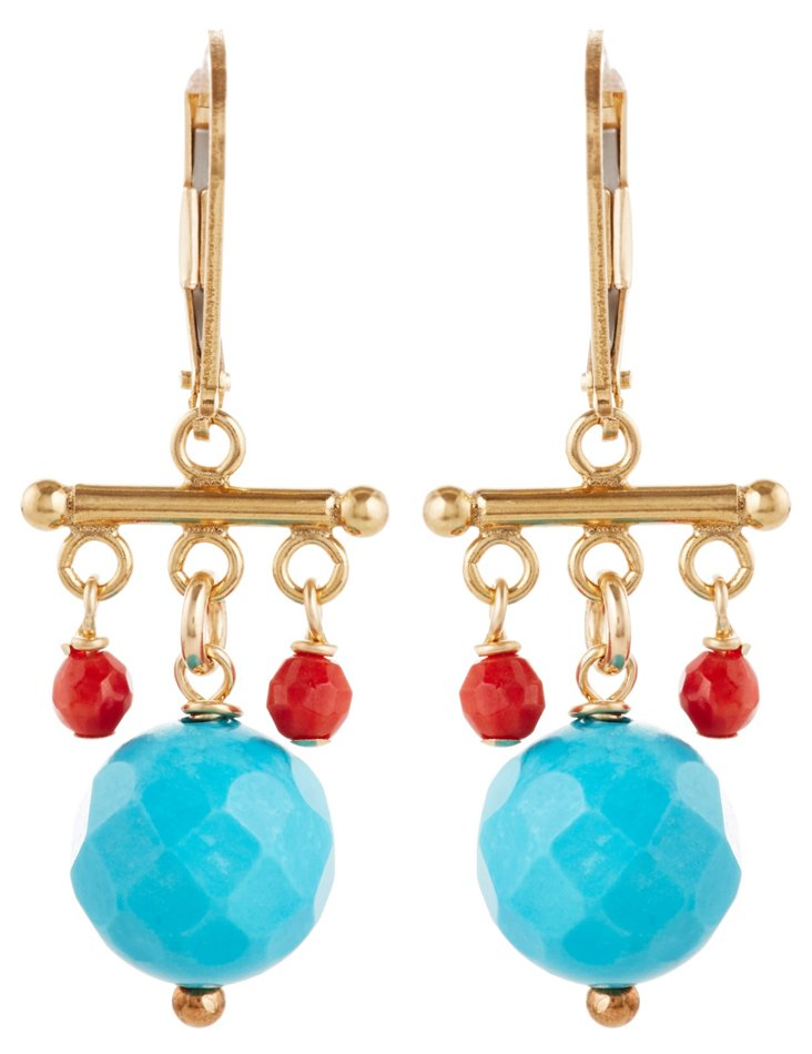Turquoise Chinois Earrings