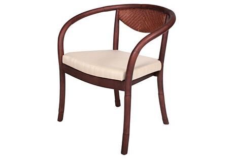 Deco Side Chair, Walnut