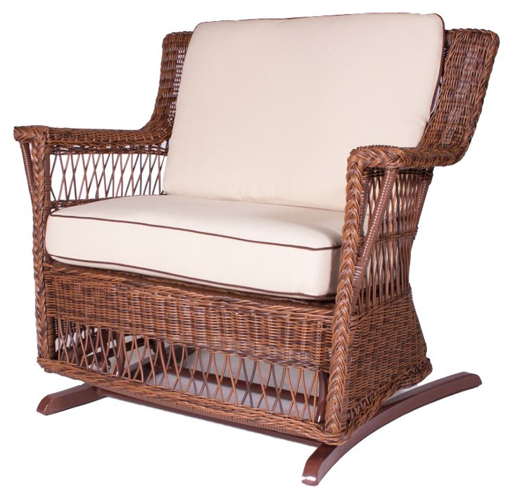 Legacy Outdoor Glider and a Half, Brown