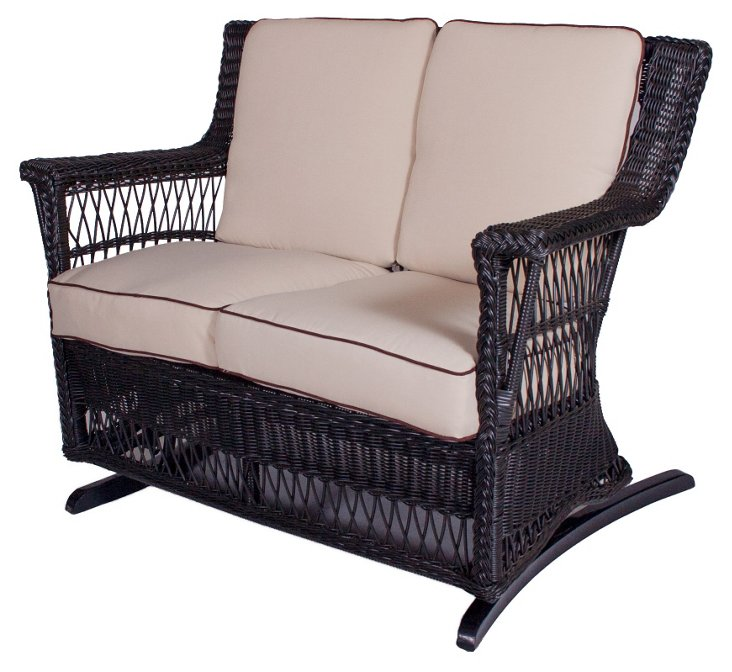 Legacy Outdoor Double Glider, Black