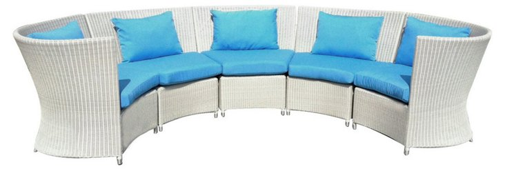 Yacht Club Outdoor Curved Sectional