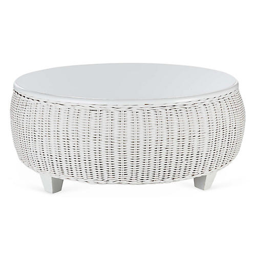 "Callaghan 39""Dia Coffee Table, White"